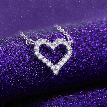 JEXXI Top Quality Fashion Heart 925 Sterling Silver Pendant Necklaces For Women Charm Cubic Zirconia  Lady Necklace