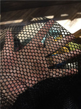 Soft cloth with strong net mesh for bag Everbright sports shoes and fabric black fishing net