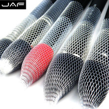 Retail JAF 12 Pcs/Lot Nylon Sheer Mesh Netting Slip On Make Up Brush Guard Forming Hair Shape Makeup Bristle Protectors BP01(China)
