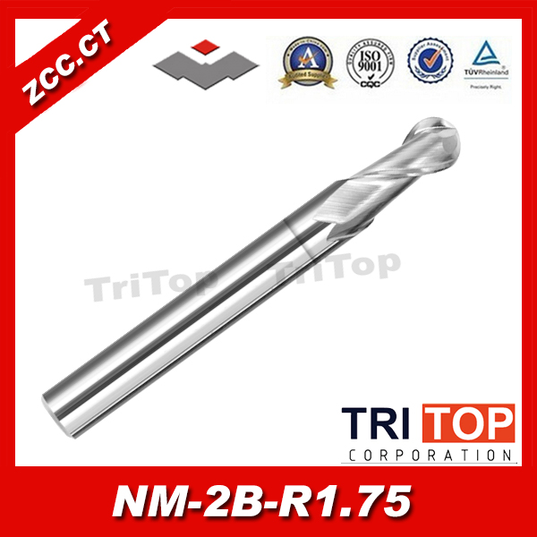 ZCC.CT NM-2B-R1.75 2-flute ball nose end mills with straight shank<br><br>Aliexpress