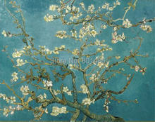 Almond Branches in Bloom, San Remy, c.1890 by Vicent Van Gogh print painting on canvas for living room wall art decoartion