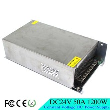 High Power DC24V 50A 1200W Switching Power Supply Transformer 110 220V AC DC 24V Driver for Industry Mechanical Equipment Light