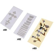 Beautiful Cool Guitar Bass Fretboard Inlay Sticker Cross Bird Flower 3 Style FingerBoard Markers Decoration(China)