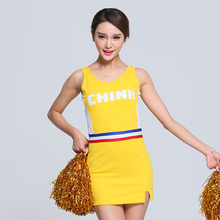 Brand New Women Fantasy Football Costume Sport Costume Cheerleader Costume Dress With Pom Pom