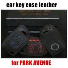 high quality Hand sewing DIY car styling Car key cover car key case Genuine leather fit for BUICK PARK AVENUE
