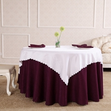 New Design Purple And White Jacquard Tablecloth Christmas Tovaglia Tavolo Table Cloth Wedding Wrochet Deco Mariage Table(China)