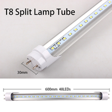 PVC Plastic 6W 9W 13W LED Tube T8 Light 220V 240V 30cm 60cm 90cm LED Wall Lamp Cold White LED Fluorescent T8 Neon LED T8 lamp