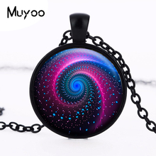 Buy Galaxy glass pendant necklace nebula space Cabochon Vintage Bronze Accessories statement necklace choker jewelery women HZ1 for $1.49 in AliExpress store