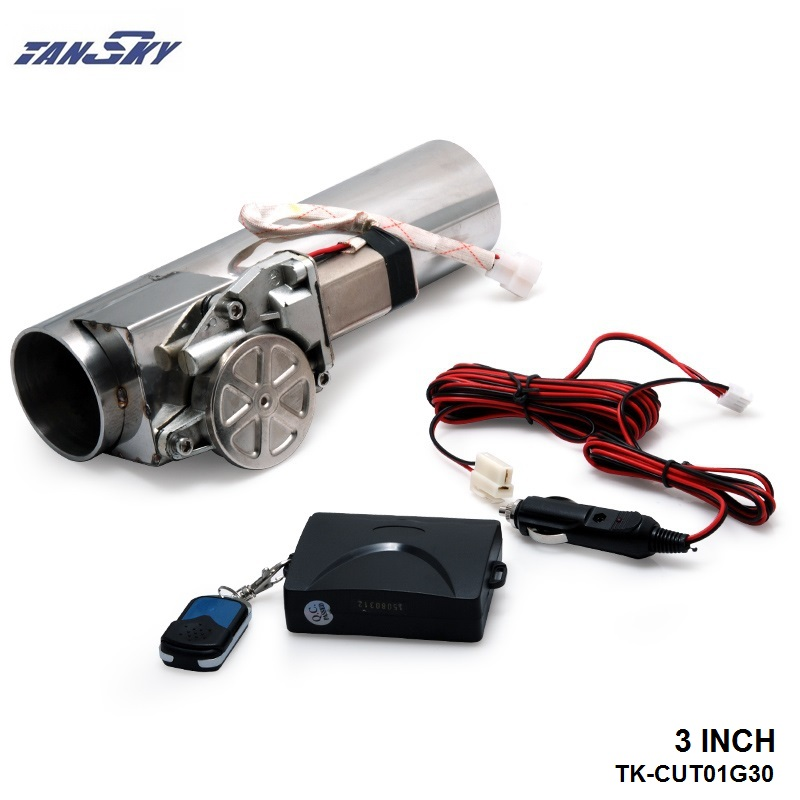 """TANSKY- Universal 3.0"""" Exhaust Pipe Electric I Pipe Exhaust Electrical Cutout with Remote Control Wholesale Valve TK-CUT01G30"""