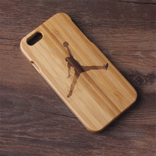 Wooden Case Cover For iPhone 6 6S 6G Jordan Bamboo Traditional Sculpture Wood Hard Back Phone Shell NEWOER(China)