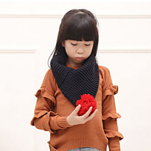 New Fashion Scarves Children Girl Warm Knitted Scarf Toddler Soft Scarves Kids Shawl Neck Wrap Child Girl Knitted Winter Scarf(China)