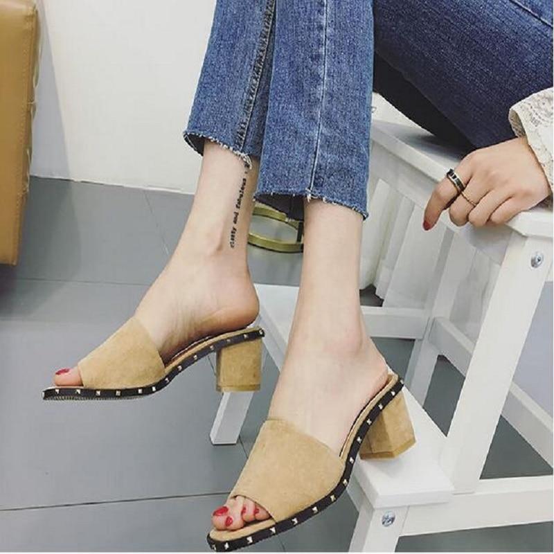 2017 Female Slippers Designer Sandals Women Black Colors Sandals Female Top Quality Beach Summer high heels sandals women<br>