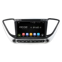 otojeta car dvd player for HYUNDAI Verna 2017 ACCENT SOLARIS octa core android 6.0 2GB RAM stereo gps/radio/dvr/obd2/tpms/camera