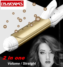Styling Tool hair straightening comb Elastic Straightener hair curler for hair Volume/ straight in one ceramic Curling