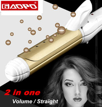 Styling Tool hair straightening curler comb Straightener hair curler for hair Volume/ straight in one ceramic Curling(China)