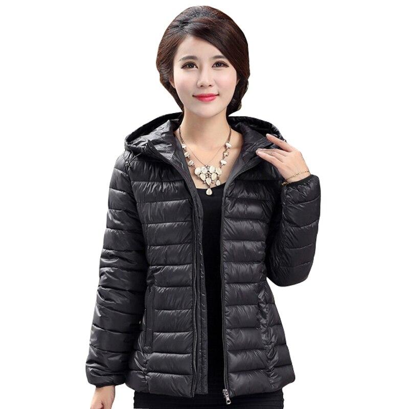 2017 Winter Parkas Ultra Light Jacket Women Hooded Coat Plus Size 5XL Solid Color Thin Jackets warm female Coats manteau femmeОдежда и ак�е��уары<br><br><br>Aliexpress