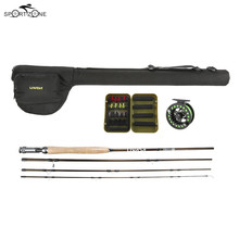 Lixada Fly Fishing Rod Reel Combo Full Kit Carbon Fiber Fishing Pole Reel Set With Lures Line Fishing Gear In Storage Bag Pesca(China)