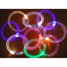 Acrylic Glitter Glow Light Sticks LED Crystal Gradient Color Hand Ring Bracelet Bangle Creativity Party Flash WristbandToys