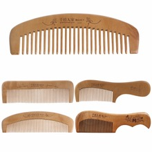 Hair Brush Peach Wood Combs Static Natural Massage Hairbrush Comb Health Care