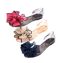 2017 Xiniu Summer Leisure Female Plastic Beach Shoes Open Toe Women Shoes Jelly Crystal Candy Color Flower Flat Casual Sandals