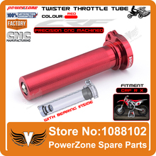 CNC Alloy CRF Billet Twister Throttle Tube Fit CRF250R 250X CRF450R 450X Off Road 4T Motorcross Dirt Bike Parts Free Shipping