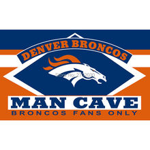 Denver Broncos Fans Only Flag MAN CAVE Banner Flag World Series Football Team 3ft X 5ft Banners Denver Broncos Flag(China)
