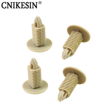CNIKESIN 100PCS Car Fastener Universal Car Ceiling Trunk Front Cover Plastic Decorative Fixed Clamp Beige Auto Interior Clip