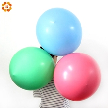 1PCS Colorful Blow Up 36 Inch Ball Balloon Helium Inflable Big Latex Balloons For Home Garden Wedding Birthday Party Decoration(China)
