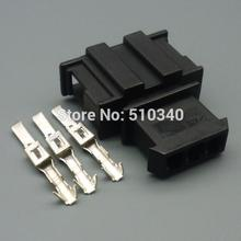100set 3 hole 3pin car connector jacket automotive plastic parts with a male terminal(China)