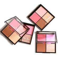 2017 Hot Design Maria Ayora Lovely Cheeks Lady Blush Palette Highlight Maquiagem Long-lasting Waterproof Cosmetic blushers Women(China)