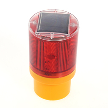 1PCS Traffic Warning Light 6 Led Solar Signal Beacon Lamps Industrial Road Lightsoutdoor lighting led solar alarm light 72*153mm(China)