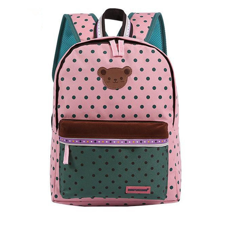 2017 Children School Bags Cute Bear Dot Star Mochila Infantil Escolar Girls Boys Backpack Kid Girl School Book Shoulder Bag 351t<br><br>Aliexpress