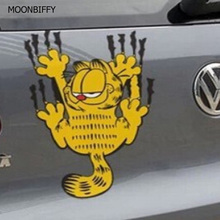 MOONBIFFY Funny car sticker The cartoon Garfield the reflective stickers+ FREE SHIPPING