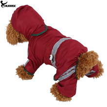 HURRISE Waterproof Dog Clothes Fashion Pet Dog Raincoat Puppy Dog Cat Hoodie Rain Coat Small Dog Jacket Clothes Pet Supplies