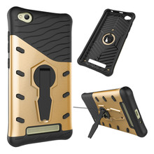 For Xiaomi HongMi Redmi 4A Phone Case Shock proof 360 swivel bracket Phone shell Netted heat dissipation Armor Phone Case Cover