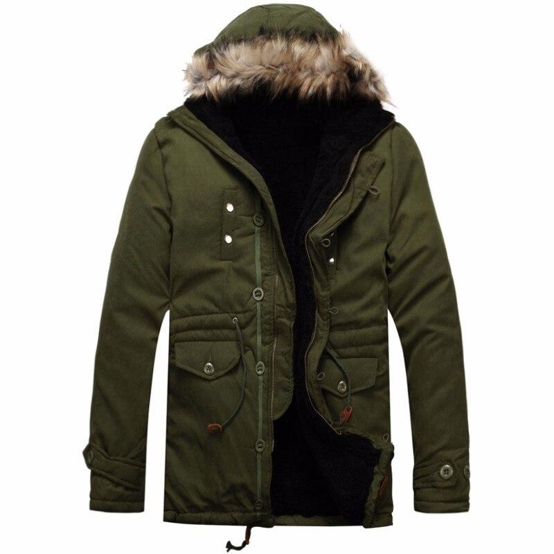 New 2017 Winter Warm Mens Jacket Parka Warm Fur Collar Long Cotton Jacket Down Coat Parka Winter Jacket Men With Fur HoodОдежда и ак�е��уары<br><br><br>Aliexpress