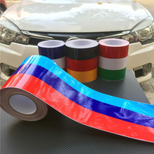 M Stripes Car Hood Sticker On Car Glossy Vinyl Car Stickers And Decals Racing Sport Car Styling For BMW M3 M5 M6 E46 E61 E90 E92(China)