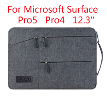 Laptop Sleeve Bag For Microsoft Surface Pro 5/4 Fashion Tablet PC Case Waterproof Hand Holder Design Pouch  Stylus As Gift