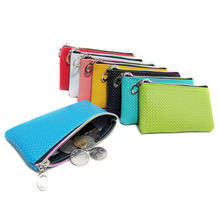 2018 Summer PU Leather Ladies Long Coin Purse Smartphone Holder Candy Color Girls Coin Bag Cheap Women Bags Purses Handbags(China)