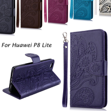 Luxury Business Women/Men Card Slot Wallet Holster Leather Cellular Case Cover For Huawei P8 Lite P9 Lite Phone Funda Bag