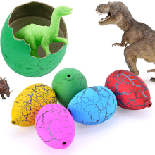 60pcs/lot Children's Funny Toy Magic Water Hatching Inflation Growing Dinosaur Eggs Toy Educational Novelty Gag Toys Kids Gift