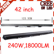 Free UPS ship!42inch 180W 18000LM,1pcs/set,10~30V,6500K,LED working bar,Boat,Bridge,Truck,SUV Offroad car,black!30W 60W 180W