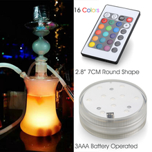 Wedding Party Events Decoration White/ Warm White/ RGB Multicolors Submersible LED Light Base Shisha Hookah LED Lighting
