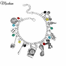MQCHUN STRANGER THINGS Crystal Beads Alloy Pendant Fashion Alloy Bracelet Christmas Gift For Woman High Quality Jewelry(China)