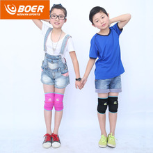 BOER 1Pair High Quality Knee Support New Style of 2017 Children Sport Protection Sponge Breathable Silica Gel Leg KneePads A33(China)