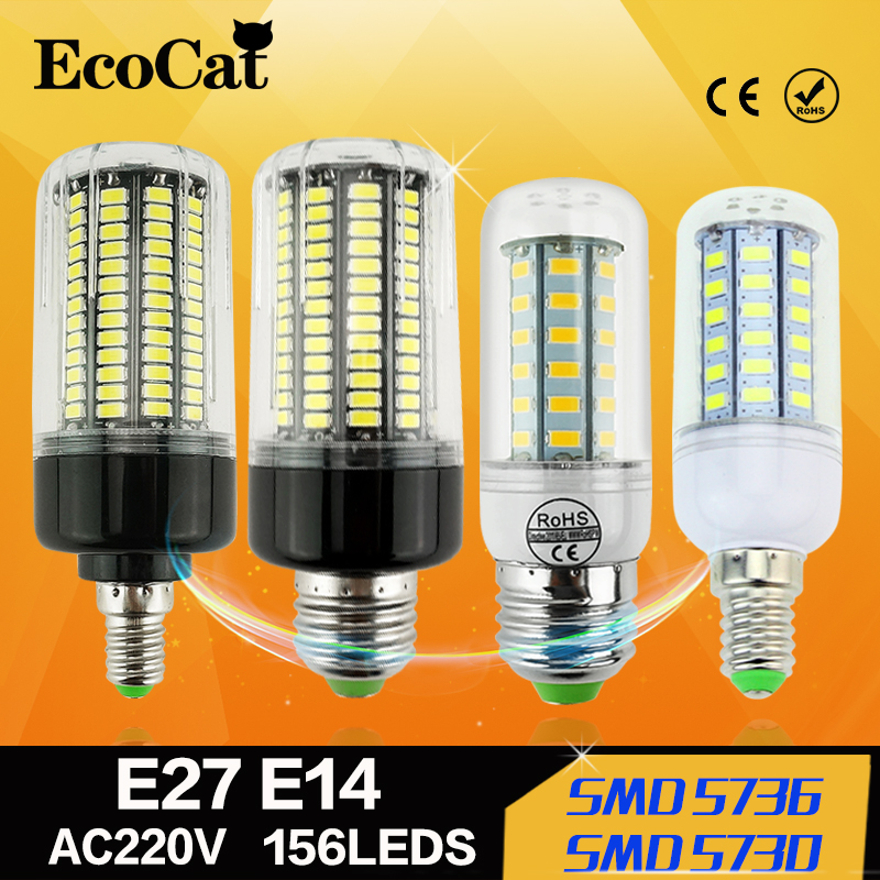2016 Full NEW LED lamp E27 E14 3W 5W 7W 12W 15W 18W 20W 25W SMD 5730 Corn Bulb 220V Chandelier LEDs Candle light Spotlight<br><br>Aliexpress