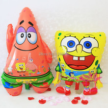 Inflatable Animal Red Feet Sponge Bob Shape Foil Balloons Spongebob Patrick Star Birthday Party Supplies Classic Air Balls