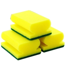 EZLIFE Cleaning Sponge Brush Dish Pan Oil Spots Cleaner Scourer Pad Kitchen Supply Kitchen Cleaning Sponge Plates Easy Sweep