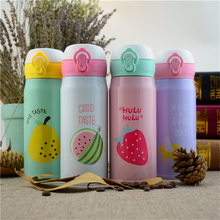 350/500ML Stainless Steel Travel Mug Insulated Thermos Cup 4 kinds Cute Fruit Style China High Quality Coffee Mugs For Gift