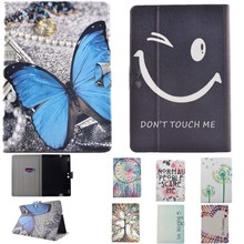 Cute Cartoon Tablet Case For Amazon Kindle Fire HDX8.9 Case Cover Black Smile Face Stand Flip PU Leather Case With Card Bag Case